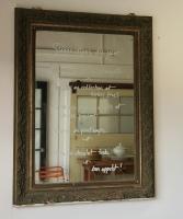 Belle Epoque Dark Green And Gilt Mirror