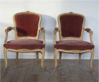 A Pair Of Louis 15 Style Fauteuils