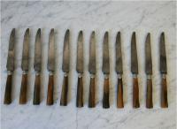 Set of French, 19th Century Knives