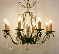 French Verdigris Régence Style Chandelier